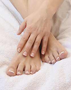 french manicure and pedicure